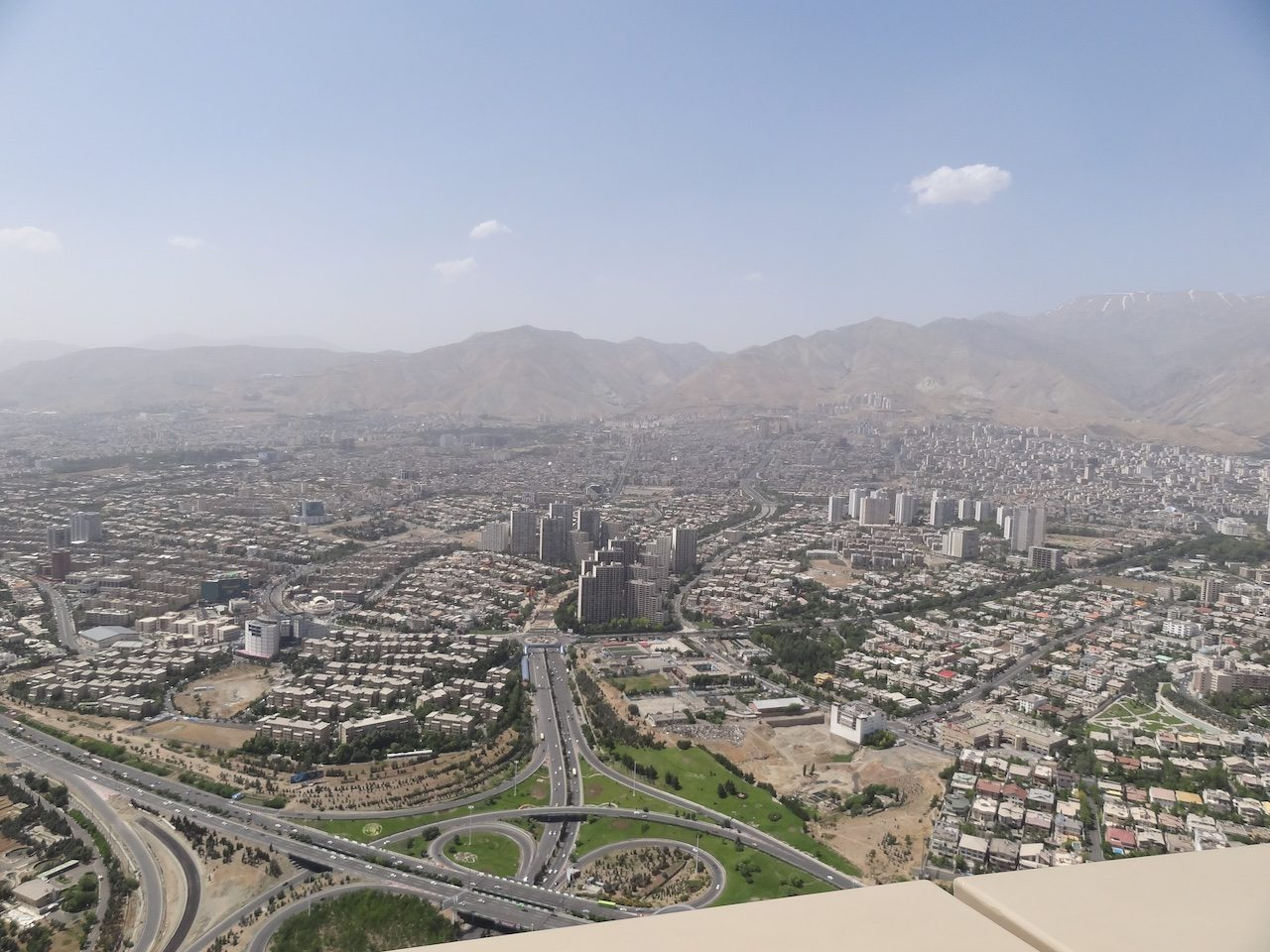 View from Milad Tower