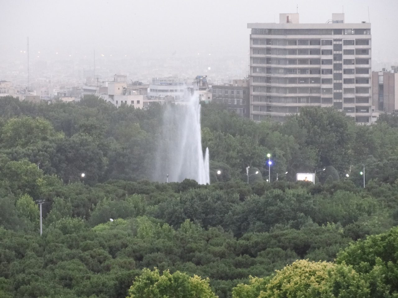 View of fountain in Laleh Park