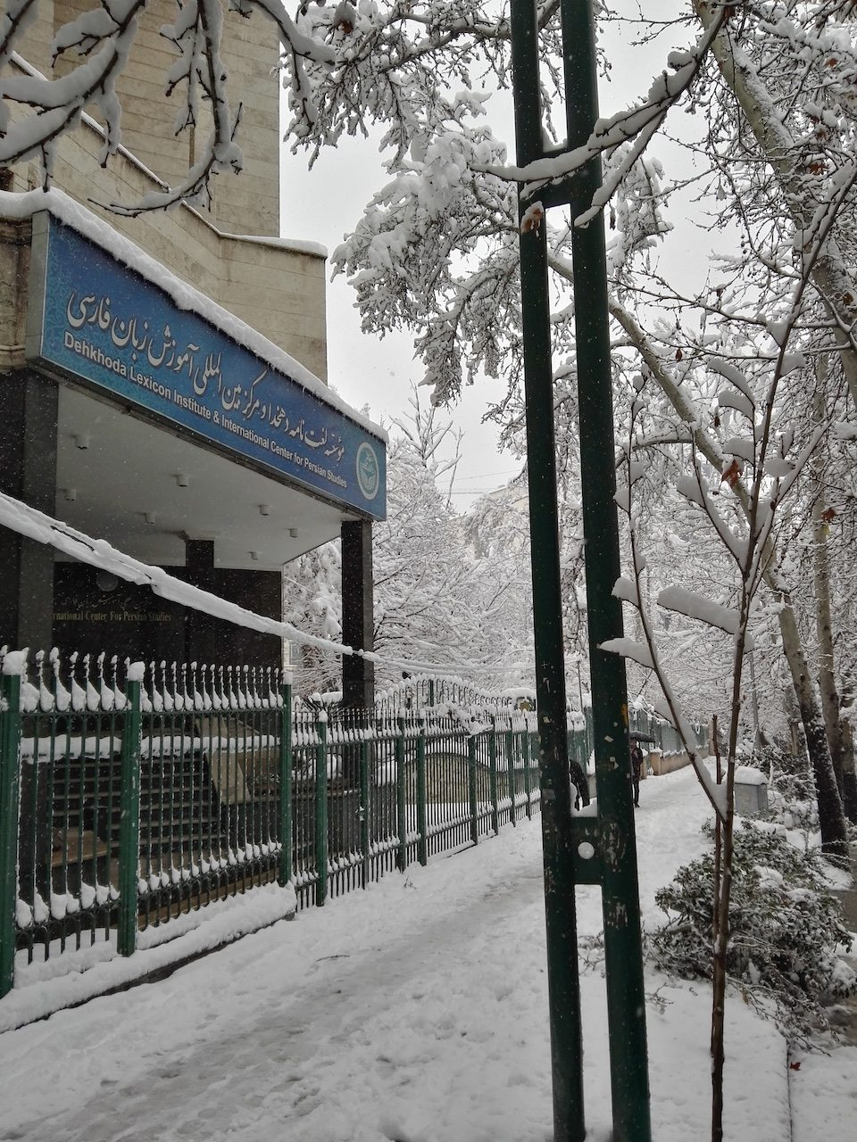 Dehkhoda in the snow