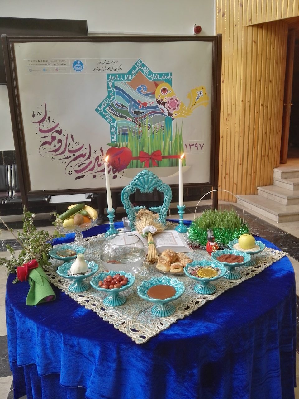 Haft Sin table set for Nowruz