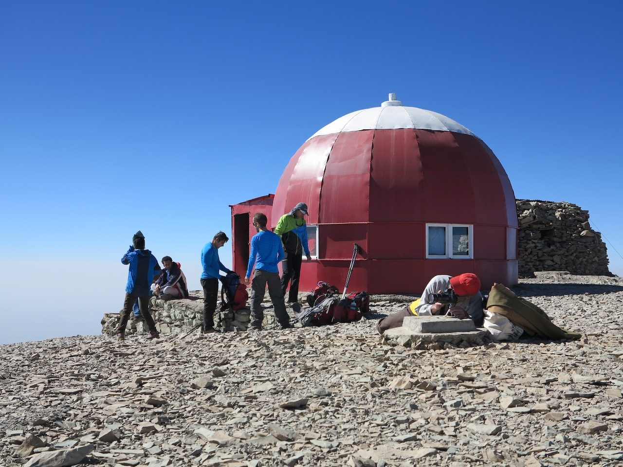 Shelter at the summit of Tochal
