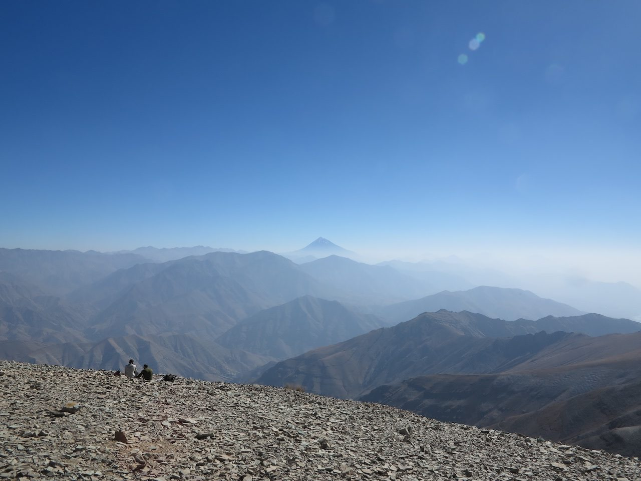 Mount Damavand in the distance