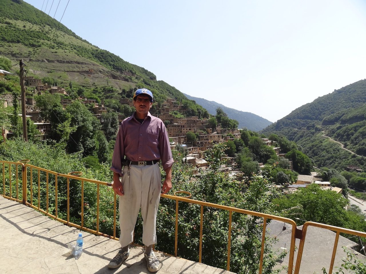 A local in Masuleh from above the town
