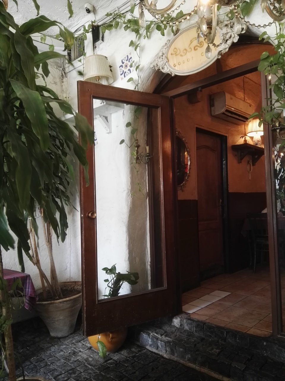 Cafe Godot doorway