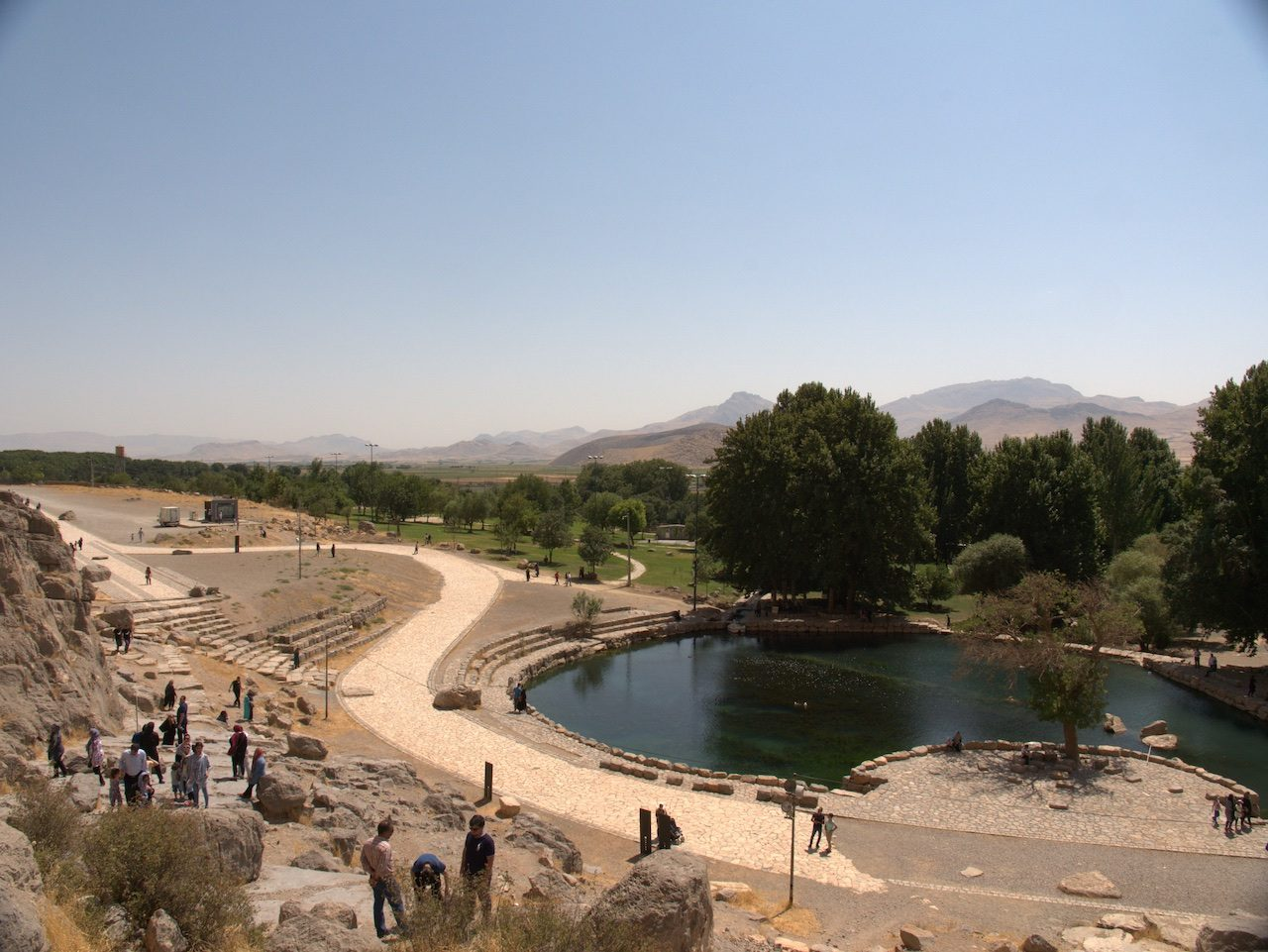 The pool at Bisotun