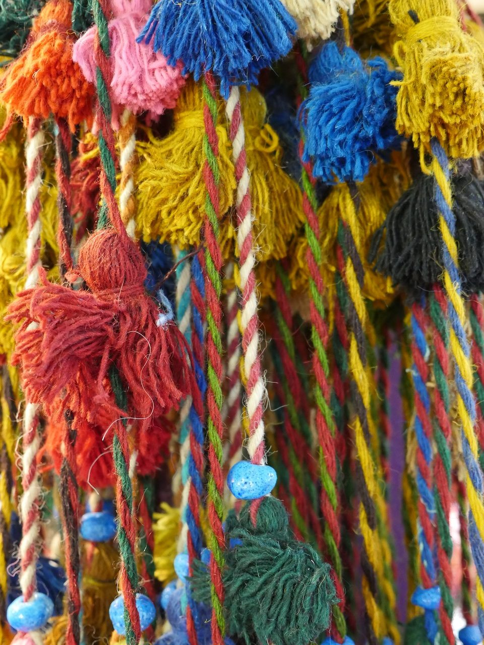 Colourful tassels
