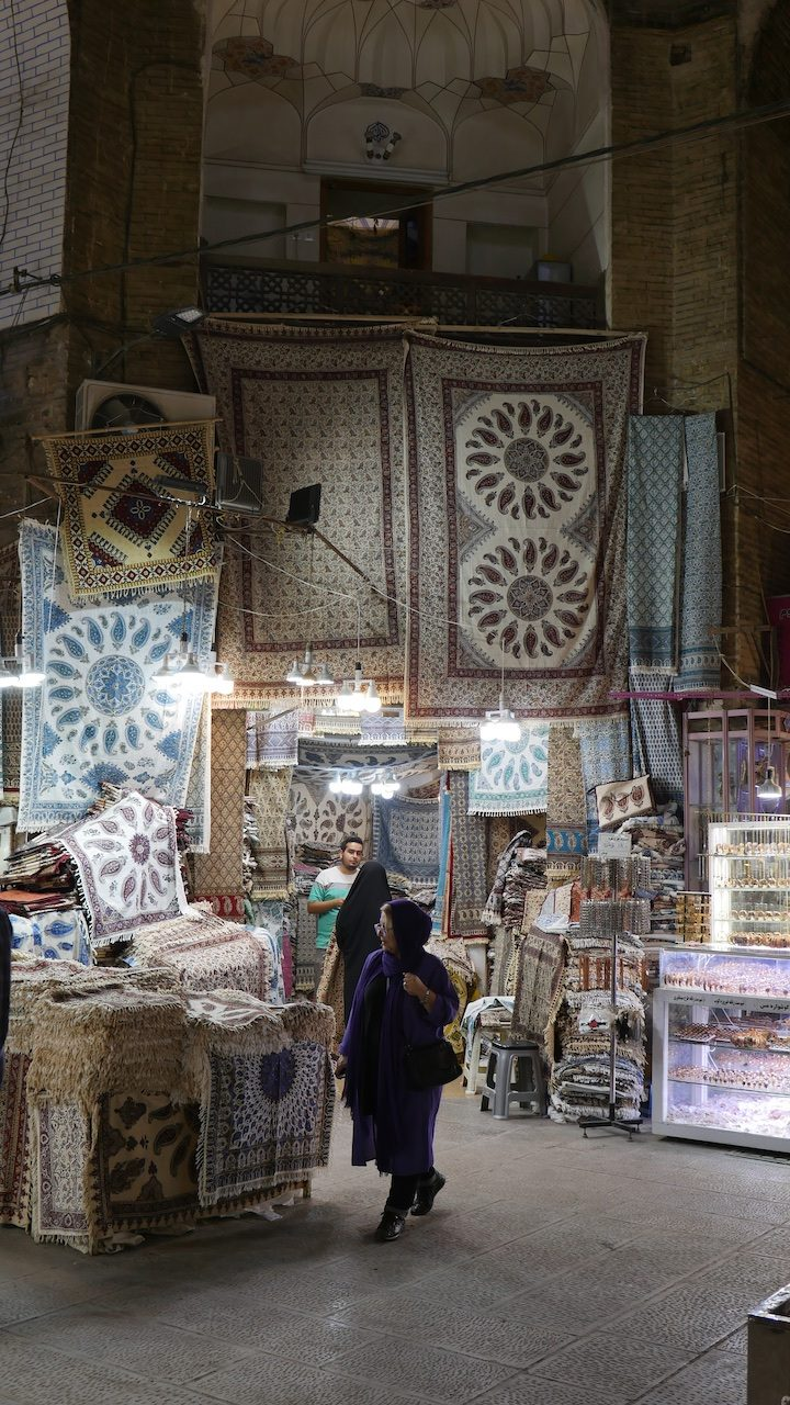 Qalamkars in the bazaar at Esfahan