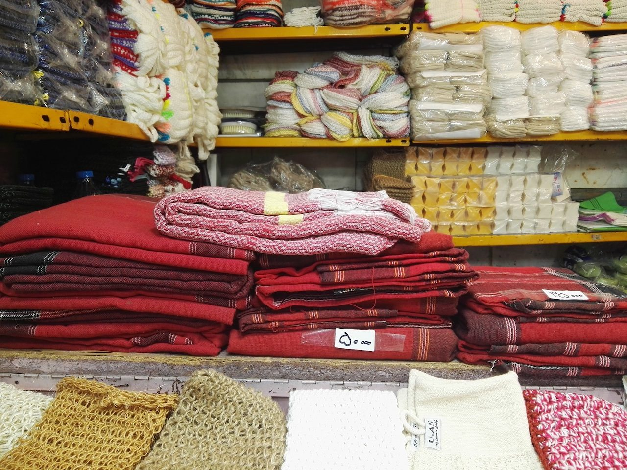 Long cloths in the bazaar