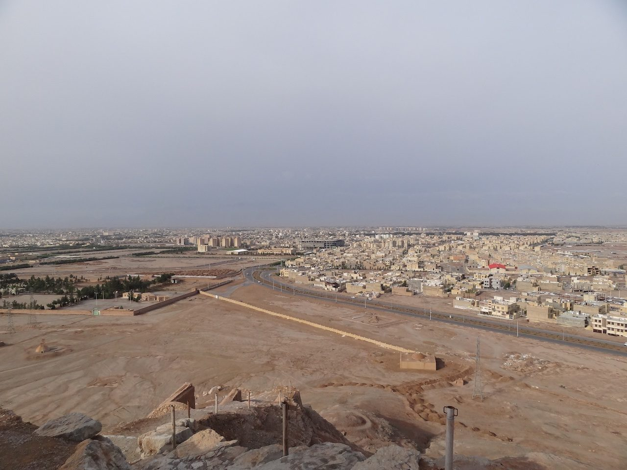 View of Yazd from the dakhma