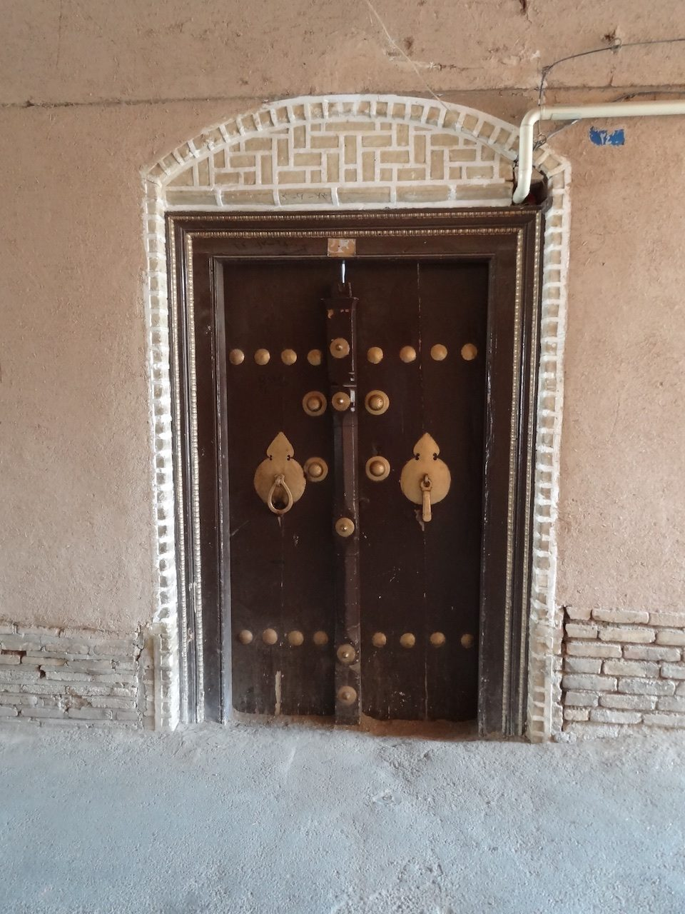 Door with two knockers