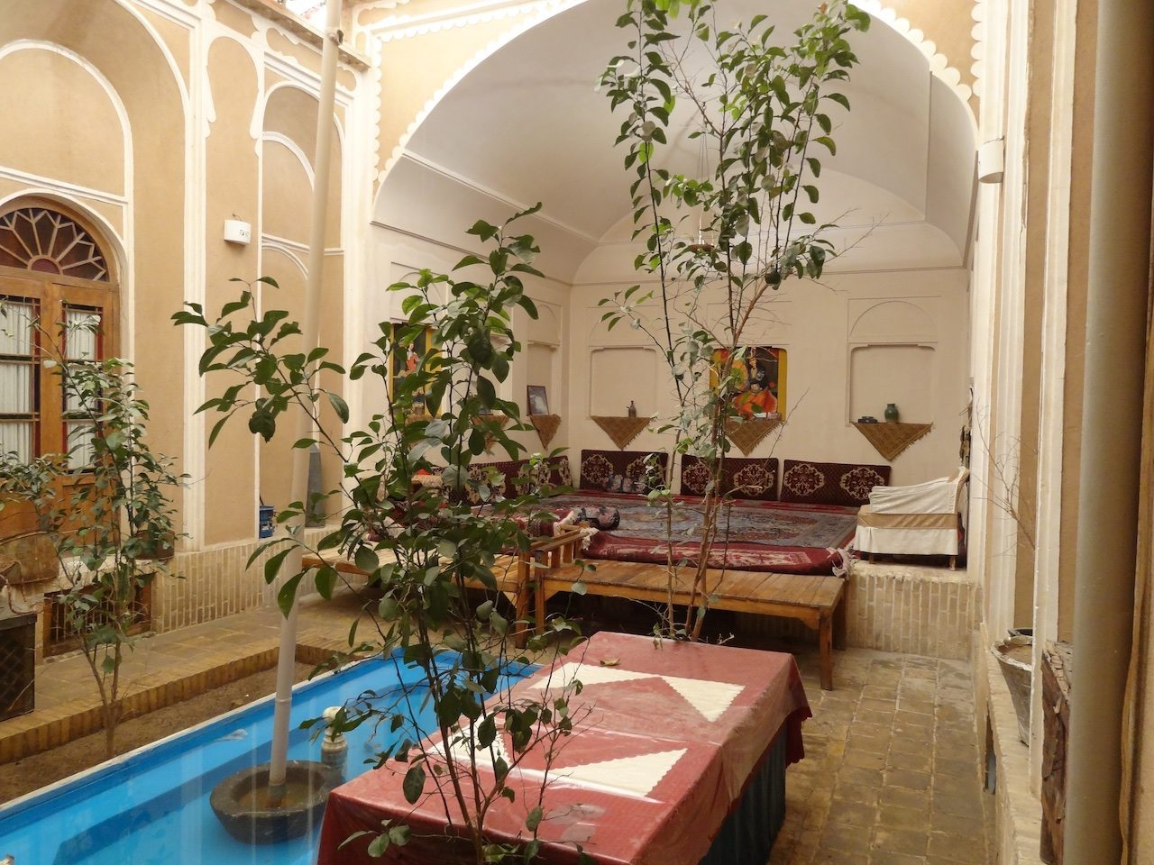 A smaller and cosier courtyard