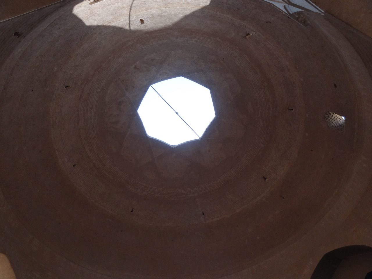 Skylight in the roof of the bazaar