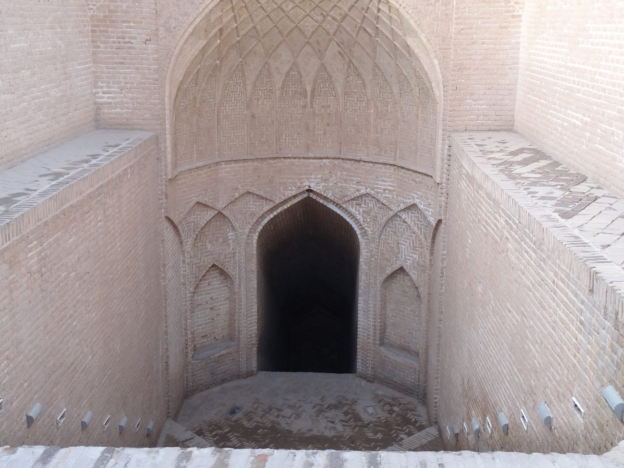 Beautiful brickwork leading down to a qanat